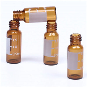 8mm amber LC-MS vial with patch